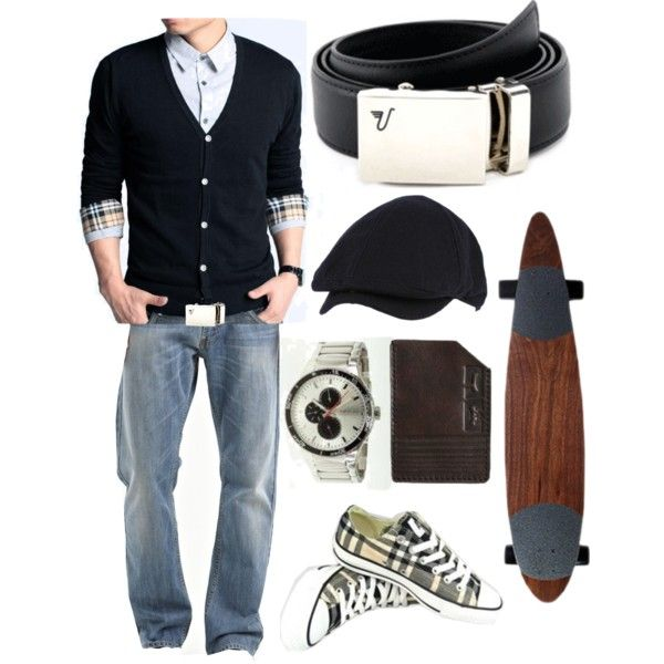 """""""The Chrome Belt - Rock'n Plaid"""" by kristinmadsen on Polyvore"""
