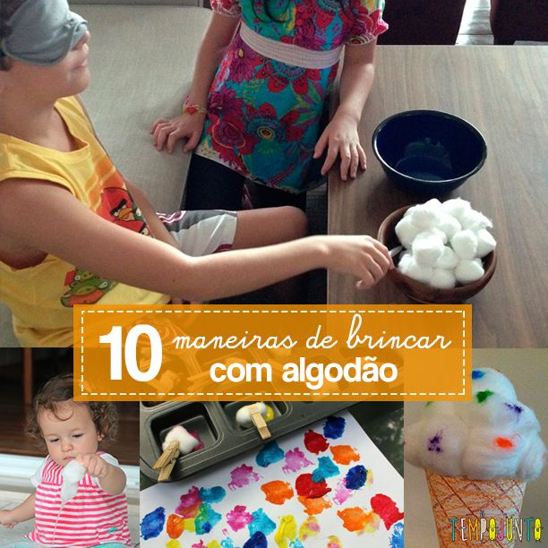 10 exemplos de como o algodão pode ser um ótimo material para fazer brincadeiras criativas e divertidas com crianças de todas as idades.