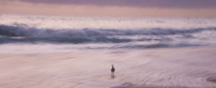 Impressionist photography Early morning at the beach