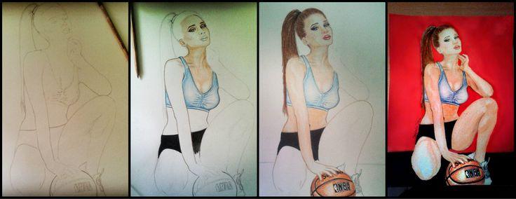 #drawing #basketball #girl #art #making #nba