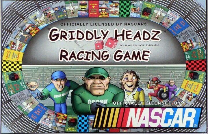 GRIDDLY HEADZ Nascar Racing Game Deluxe Edition Board Game #NascarGrizzlyHeadz