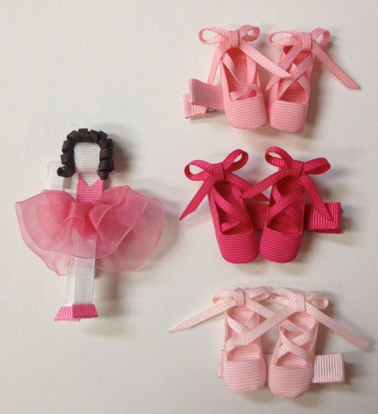 Ballet hair bows/clips