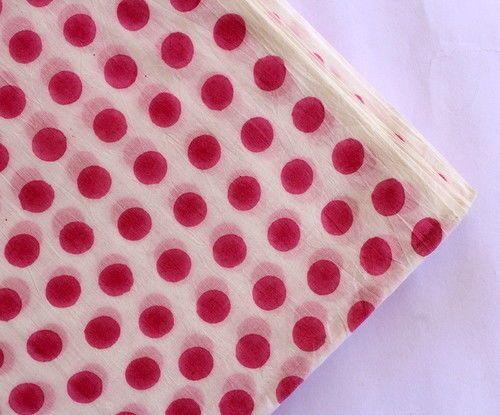 2.5 Yard Indian Natural Block Print Upholestry Fabric  Cotton