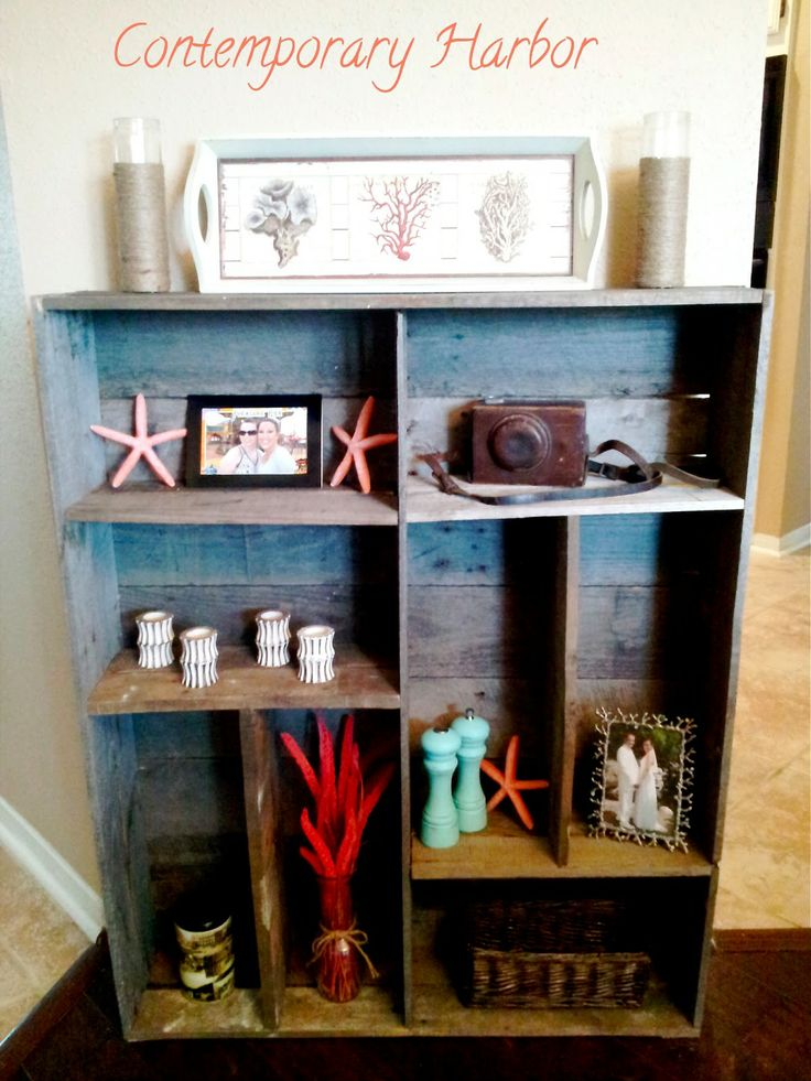 Contemporary Harbor: Pallet Bookcase - Knick Knack Shelf