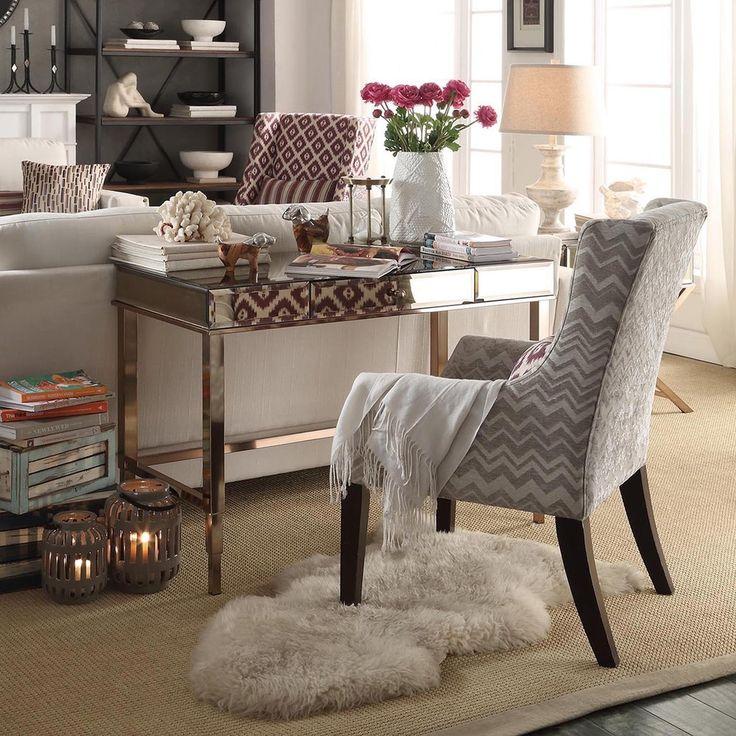 Pinterestu0027te 25u0027den fazla en iyi Desk behind couch fikri Mobilya - desk in living room