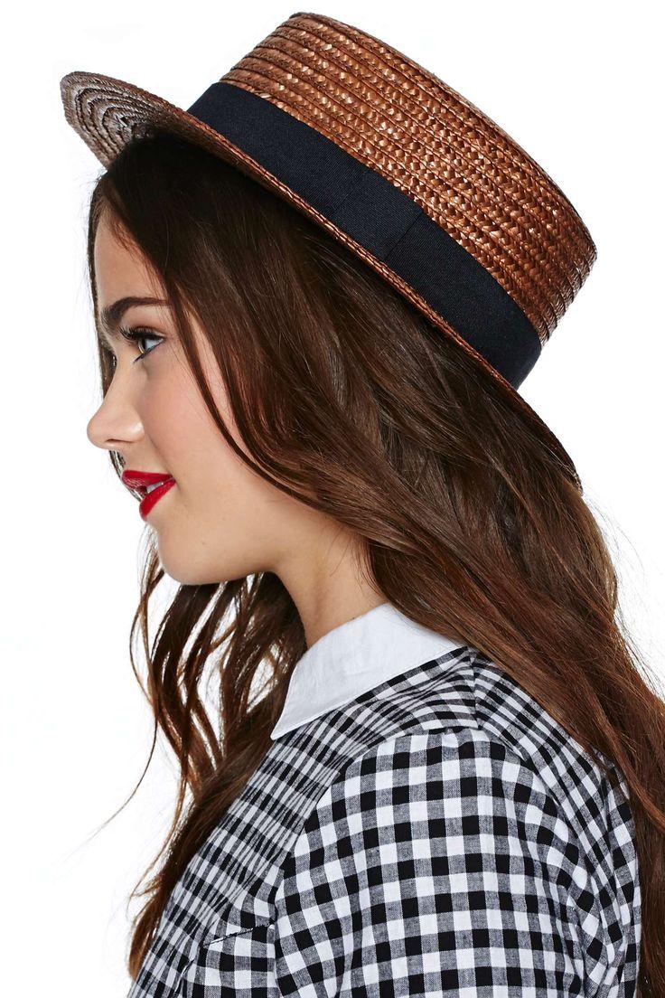 Nasty Gal Gillian Boater Hat |