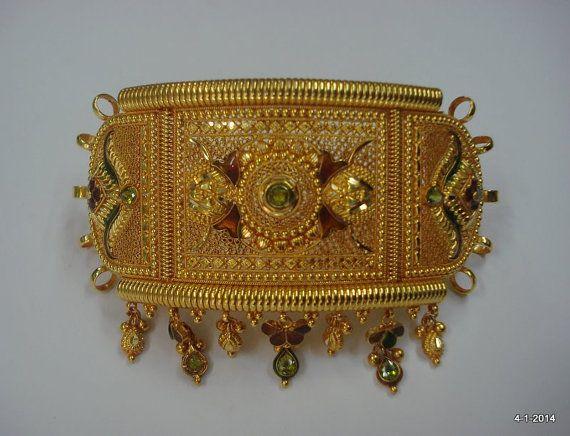 20k gold armlet bracelet bajuband arm by indiantribaljewelry, $3299.00
