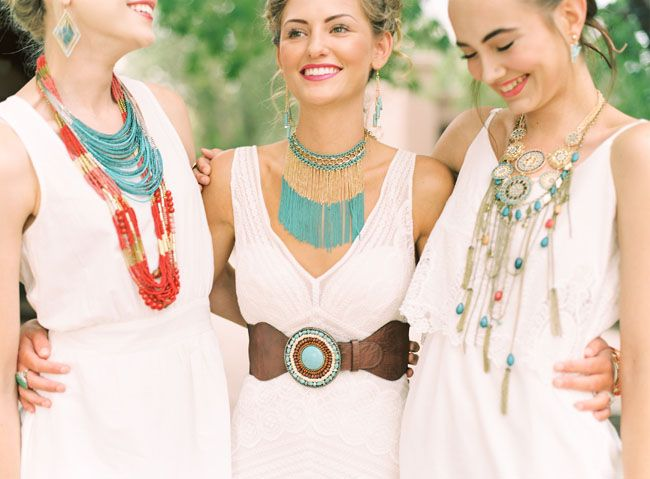 southwest statement necklaces - love the layering