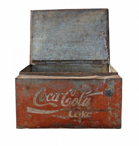 Caisse en fer Coca Cola vintage des années 50