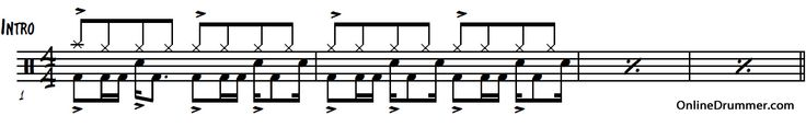 Immigrant Song – Led Zeppelin – Drum Sheet Music | OnlineDrummer.com
