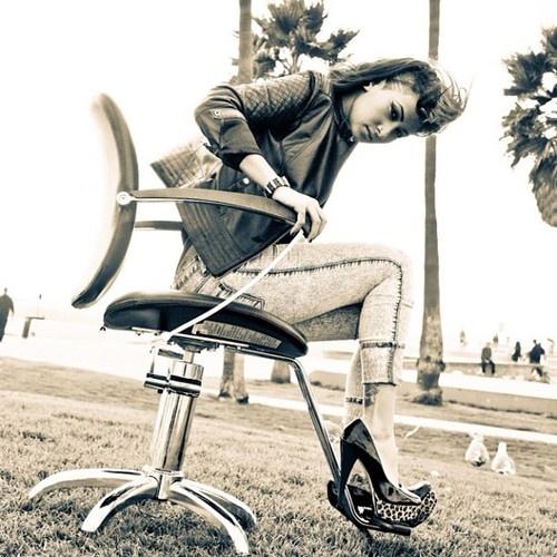 Venice Beach styling - 2012    Model: Dru Marie  Photographer: Cammy Kinney    #LAID brand #RockerStylist #David L. Hensley #Professional Hair Care #Pherottraction #Pheromones #LAID