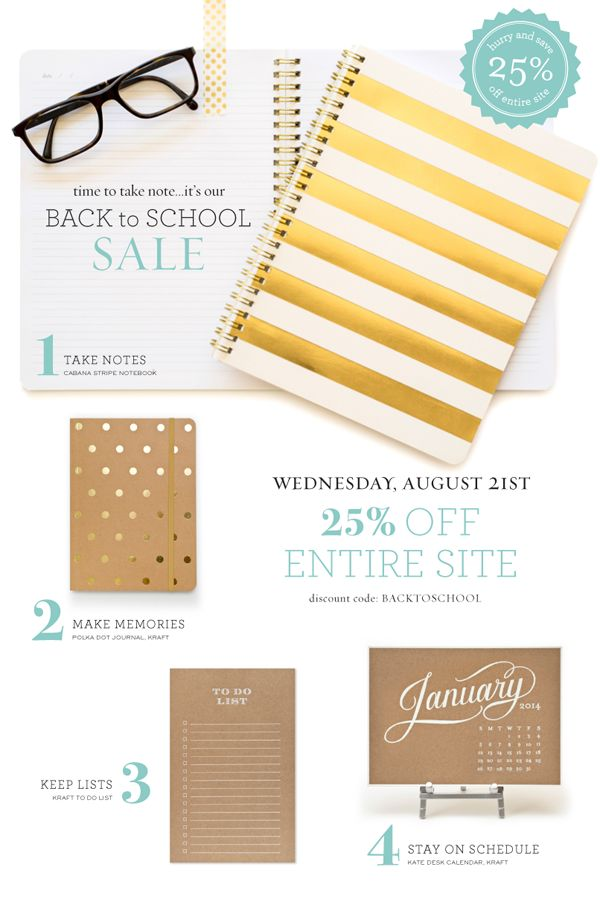 Back to School Sale | 25% Off Entire Site with Discount Code - August 21st only!