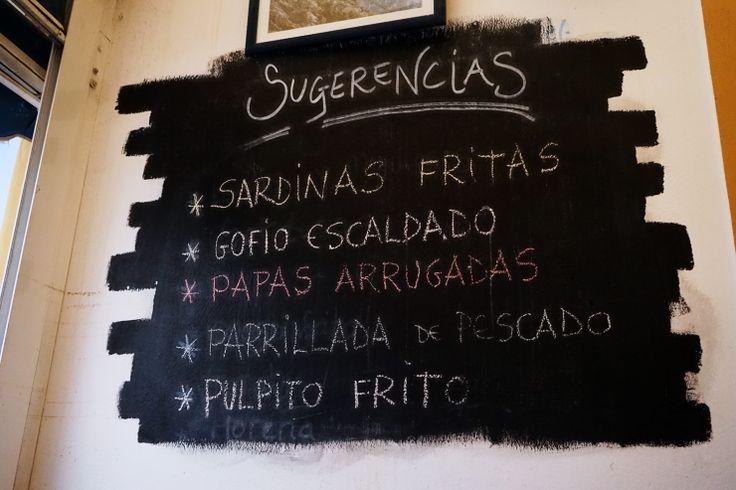 Gofio und Papas Arrogadas - Kanarische Küche genießen? Gewusst wo: In der Cofradia de Pescadores in Puerto de las Nieves auf der Nordseite der Insel