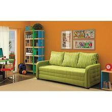 Диван-кровать «Лайт-М», ширина спального места 200 см, зеленый, полоска