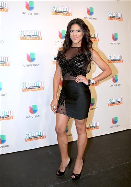 """Francisca Lachapel en la alfombra del programa final de """"Sábado Gigante"""" conducido por Don Francisco en la cadena Univision, Miami, el 19 de septiembre de 2015."""