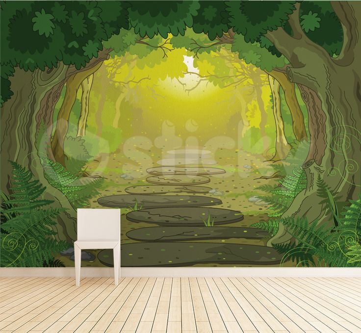 Wallpaper Sticker FOREST PATH by Sticky!!!