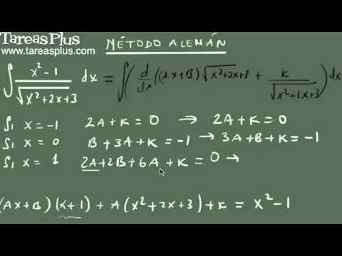 El método Alemán para integrales irracionales parte 2