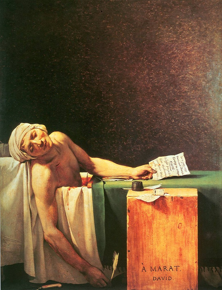 Jacques Louis David - De dood van Marat (1793)