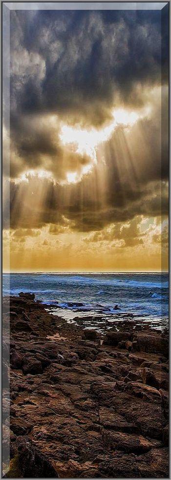 Sunbeams - A scene on The South African East coast near Cape Vidal.