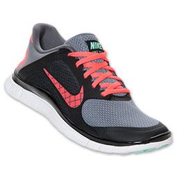 Women\u0026#39;s Nike Free 4.0 Swoosh Running Shoes?| FinishLine.com | Cool Grey/Atomic Red/White. I want these!! | Shoes! | Pinterest | Women Nike, Nike Free and ...