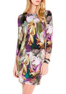 Karen Kane Women's Painted Floral Sheath Dress - Print - L