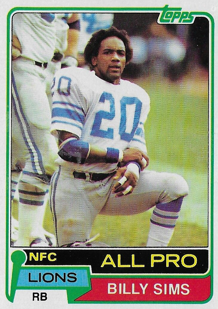 1981 topps billy simms nfl football cards topps