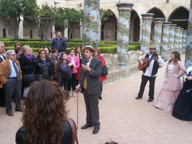 Omaggio a Salvatore Di Giacomo, canzoni e poesie nel chiostro di Santa Chiara - Napoli