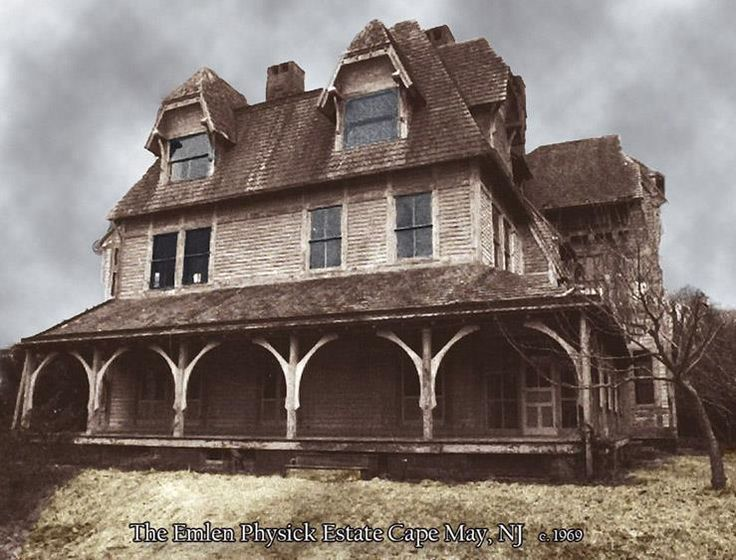 The Emlen Physick Mansion in Cape May, New Jersey. Probably one of the most active haunted houses in the United States. Since the last family member died in 1935, no one has been able to live in the house for more than a few months.    The mansion has since been restored and, luckily for lovers of the paranormal, is now open year around as a museum.    The dead, definitely do not rest at the Physick Estate.