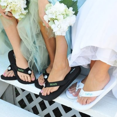 Personalized Flip Flops - perfect Bridesmaid gift for that beach wedding!