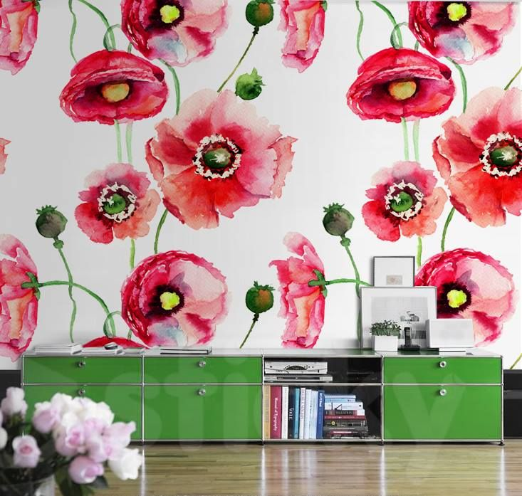Wallpaper Sticker POPPIES by Sticky!!!