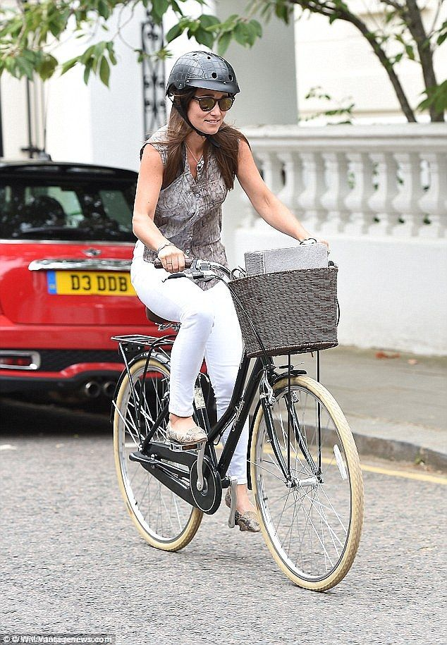 Pippa Middleton, seen here riding a Pendleton bike, is one of a wave of celebs opting to g...
