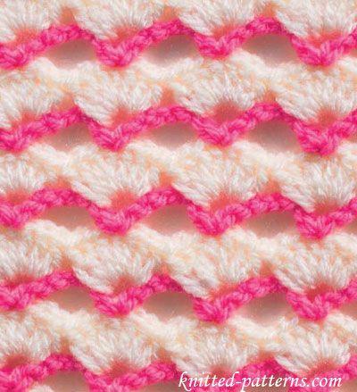 Pretty Fans - Crochet Stitch - free pattern ༺✿ƬⱤღ http://www.pinterest.com/teretegui/✿༻