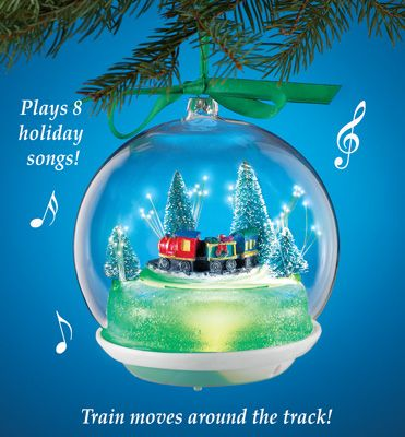 Musical Animated Holiday Train Ornament Train Ornament