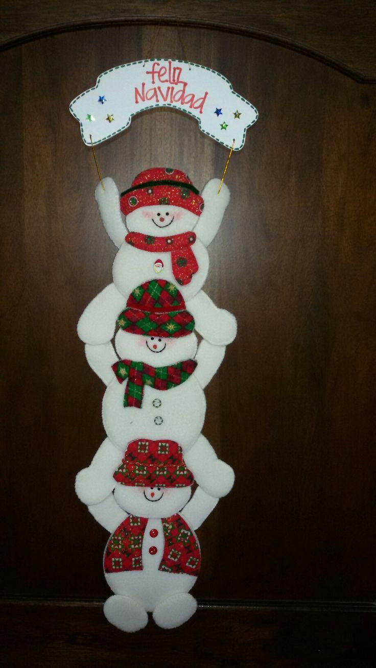 274 mejores im genes de navidad en pinterest artesan as - Decoracion navidad goma eva ...
