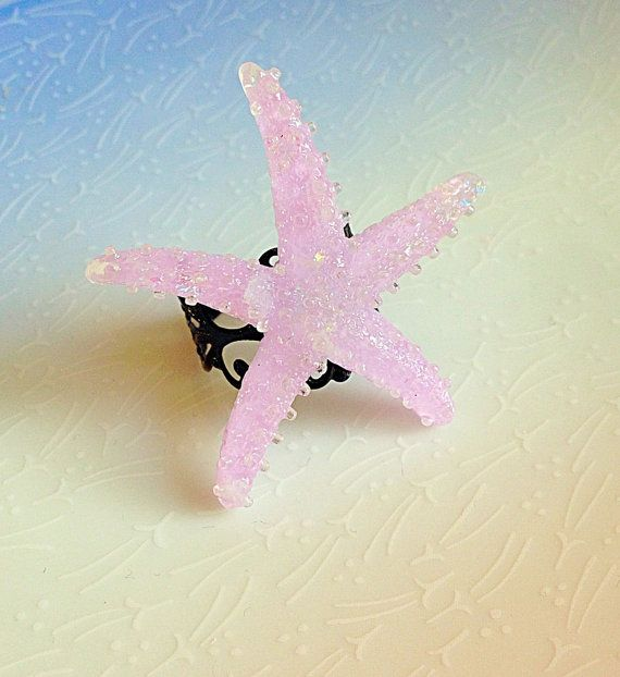 Mermaid Starfish Ring Shimmer Lilac Ocean Beach by XKawaiiCutieX