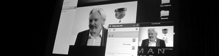 Assange az SXSW konferencián  - http://rendszerinformatika.hu/blog/2014/03/11/assange-az-sxsw-konferencian/?utm_source=Pinterest&utm_medium=RI+Pinterest