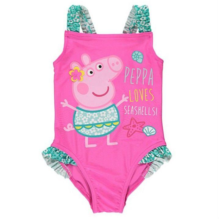 352a2f5f8c4eb Girls Peppa Pig Swimsuit