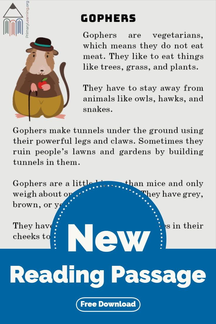 In This Non Fiction Passage Students Learn About The Gopher Where Does The Gopher Live W Reading Passages English Stories For Kids Free Homeschool Resources [ 1102 x 735 Pixel ]
