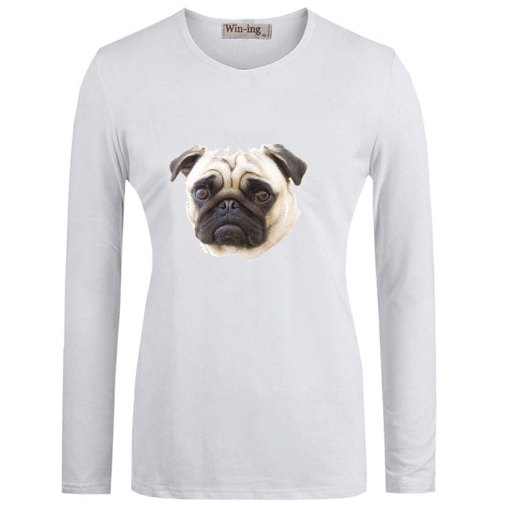 Pug Long Sleeve T-Shirt //Price: $53.57 & FREE Shipping //     #cat #dog  #kitten #petworld #puppy #animal
