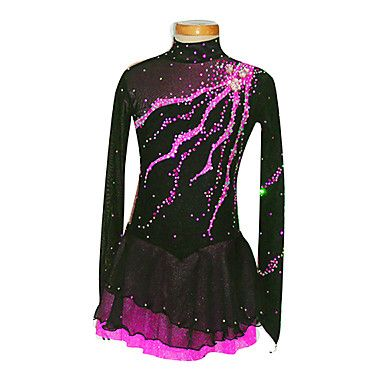 Girl's Black Spandex Figure Skating Dress(Assorted Size) – USD $ 149.99