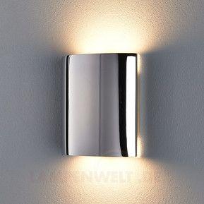 Edelstahl-Wandleuchte Renee mit LED 14 x 14