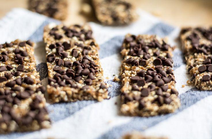 Chocolate Peanut and Oat Energy Bars   Lemons and Basil