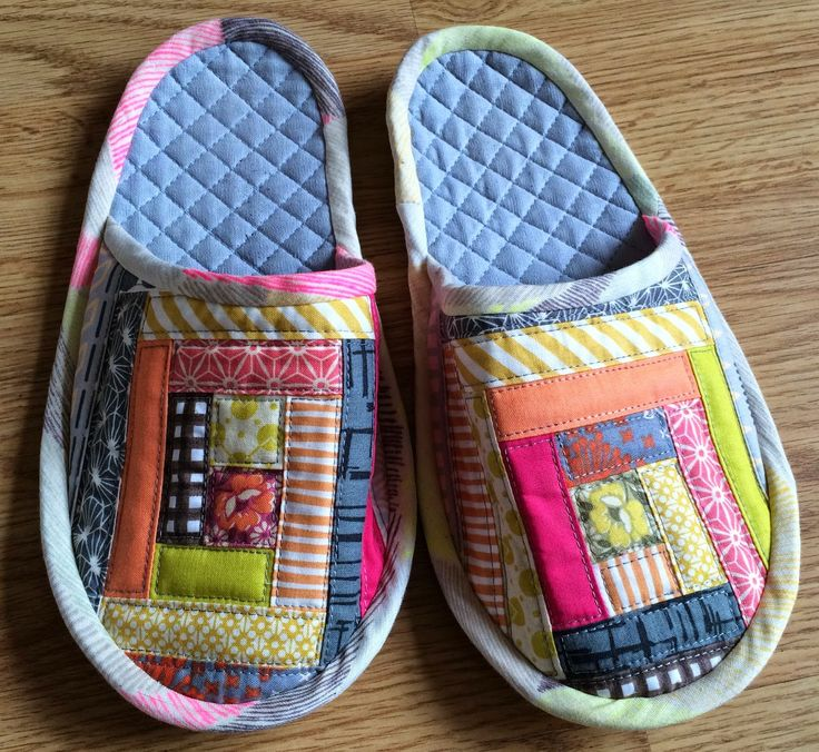Colorful Sewing Pattern Slippers Vignette - Easy Scarf Knitting ...