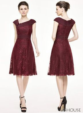 Go for a romantic and chic look in this feminine lace dress! #jjshouse #motherdr…