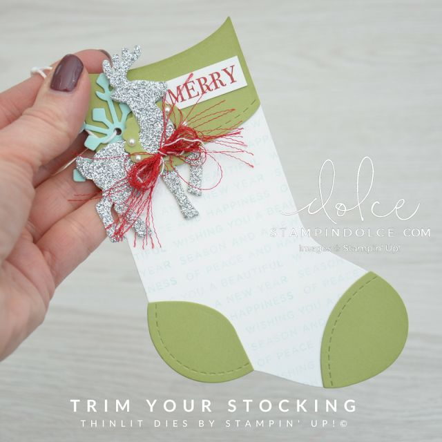 Stocking Tags - using the Trim your Stockings Dies from Stampin' Up!
