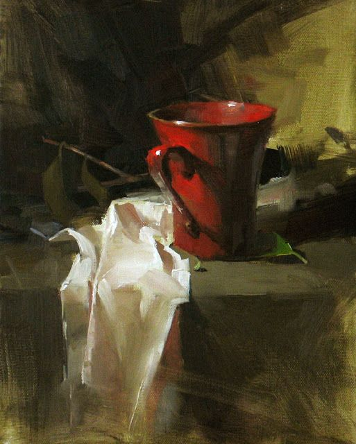 Richard Schmid, great example of strength of complementary colors. #PadreMedium