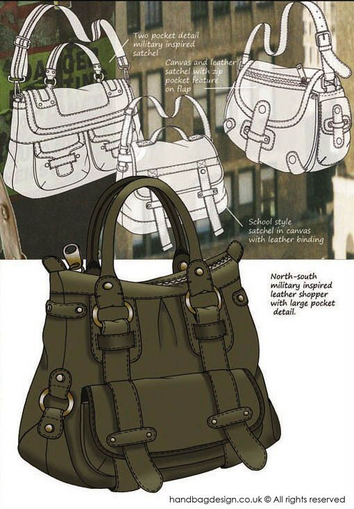Handbag / Purse design illustration sketch drawing - Mood boards by Emily O'Rourke at Coroflot.com