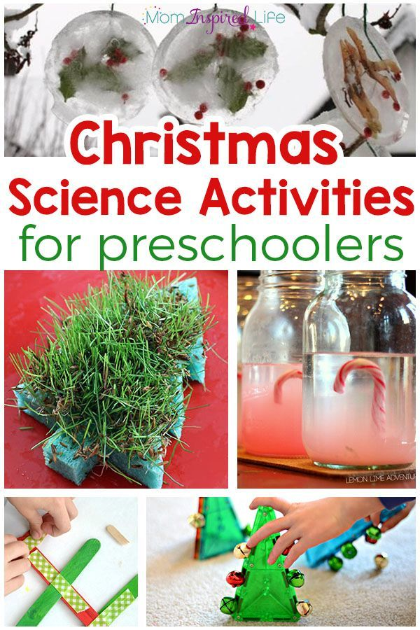 Christmas science experiments and activities for preschoolers! Fun science activities for Christmas!