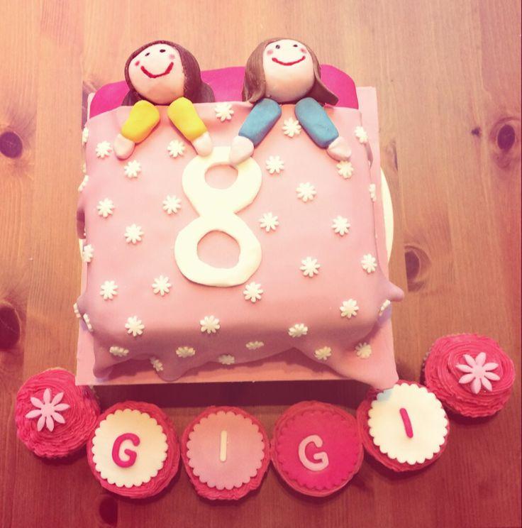 8th birthday 'Sleepover' cake