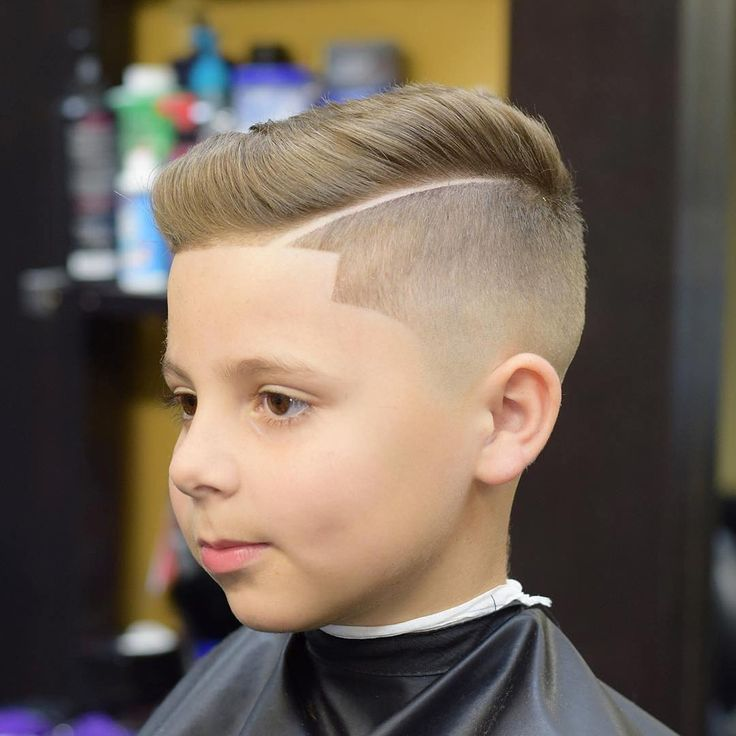 Best Haircuts For Youth : Side part with line up haircuts for boy kid